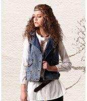 【即納】ベスト ジレ デニム刺繍入りポケット付きショート丈-ak6354-tk-ak6354-gz-l【カラー:画像】【サイズ:L】