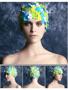 花びら スイムキャップ 水泳帽 水着付属品 海 プール bna0011-4