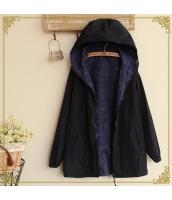 フード付きジップアップ裏プリント入り裾紐付き多色無地長袖パーカ hs0100-2