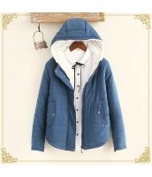 ジャンパー・ブルゾン 中綿入りジャンパー 無地 暖い ゆったり 帽子付き hs3244-4
