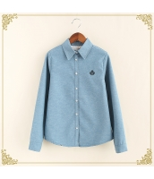 シャツ 柄物 長袖 暖い 厚い 刺繍 裏起毛 プリント hs3420-1