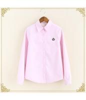 シャツ 柄物 長袖 暖い 厚い 刺繍 裏起毛 プリント hs3420-4