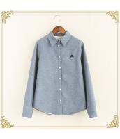 シャツ 柄物 長袖 暖い 厚い 刺繍 裏起毛 プリント hs3420-5