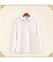 シャツ 柄物 長袖 刺繍 コーデュロイ プリント hs3429-2