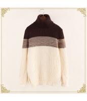 ニット・セーター 長袖 タートル 暖い 細身 ミックス hs3437-1
