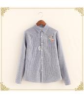 シャツ 柄物 長袖 刺繍 ボーダー 裏起毛 hs3495-4