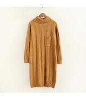 ニット・セーター 長袖 学生 暖い 無地 ゆったり タートル ロング丈 hs3525-3