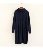 ニット・セーター 長袖 学生 暖い 無地 ゆったり タートル ロング丈 hs3525-4