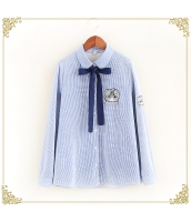 シャツ 柄物 長袖 ボーダー 裏起毛 hs3569-1
