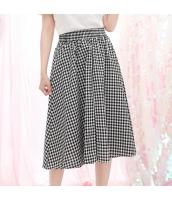 スカート 膝丈 格子 Aラインスカート 大裾スカート hs3875-2