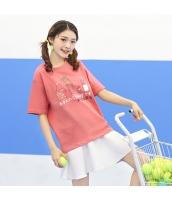 Tシャツ 半袖・五分袖 丸首 甘美 サボテンプリント hs3885-1