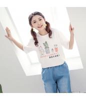 Tシャツ 半袖・五分袖 丸首 甘美 サボテンプリント hs3885-3