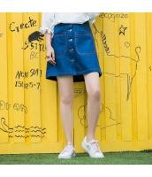 スカート ミニ デニム 学院風 シングルボタン 細身 タイト Aラインスカート hs3899-1
