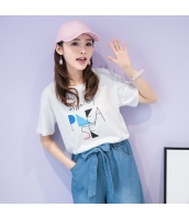 Tシャツ 半袖・五分袖 丸首 文字プリント hs3943-1