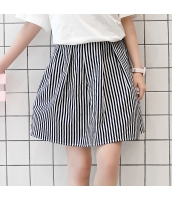 スカート 学院風 甘美 リボン 細身 ストライプ Aラインスカート hs3947-1