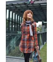 【即納】綿入り厚手長袖ロングシャツ 赤チェック格子パイピング ブルオーバー シャツ Mサイズ tk-a1117-m