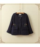 ジャンパー・ブルゾン/フリース/七分袖/刺繍 jf1311-1