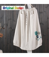 スカート 膝丈 復古 花刺繍 jf1539-2