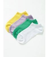ガーベラインナー レッグウェア 綿  かかとソックス 4足セット mb10145-1