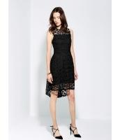 ガーベラレディース エレガント ロマンチック 立体 レース マーメイドライン スラッシュ ミディアム 袖なし ドレス ワンピース  mb10383-2
