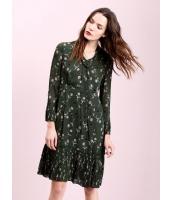 ガーベラレディース ファッション ロマンチック リボン プリーツ 着やせ 長袖 ワンピース  mb10500-1