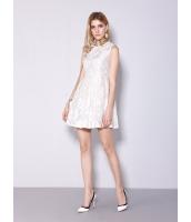 ガーベラレディース ファッション ホロー レース Aライン リボン ワンピース  mb10518-2