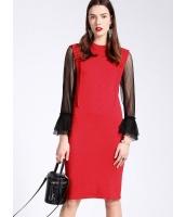 ガーベラレディース 欧米風 ファッション ぺプラム 袖なし ロング丈 丸首 袖なし プルオーバー ワンピース  mb10545-2