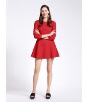 ガーベラレディース 欧米風 ファッション 着やせ 9分袖 ワンピース  mb10547-1
