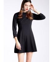 ガーベラレディース 欧米風 ファッション 着やせ 9分袖 ワンピース  mb10547-2