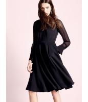 ガーベラレディース エレガント ロマンチック スタントカラー ハイウエスト 大裾 袖なし ワンピース  mb10550-2