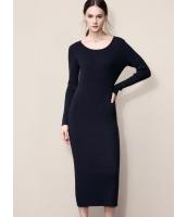 ガーベラレディース ファッション エレガント ストレート型 ロング丈 丸首 ワンピース  mb10599-1