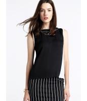 ガーベラレディース ファッション シンプル 袖なし 丸首 プルオーバー ブラウス  mb10662-1