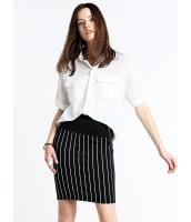 ガーベラレディース ファッション 五分袖 ドルマン ポケット飾り ゆったり シャツ  mb10723-1