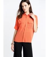 ガーベラレディース ファッション 五分袖 ドルマン ポケット飾り ゆったり シャツ  mb10723-2
