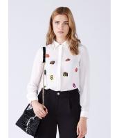ガーベラレディース 欧米風 着やせ 長袖 シフォン コーデアイテム シャツ mb10854-1