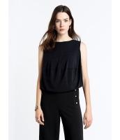 ガーベラレディース ファッション シンプル 袖なし Tシャツ mb10883-1
