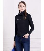 ガーベラレディース 欧米風 ファッション タートルネック ボーダー 長袖 ショート丈 セーター mb10978-2