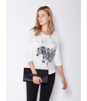 ガーベラレディース 欧米風 カジュアル ゆったり ゼブラ ファッション Tシャツ mb11011-2
