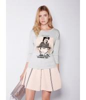 ガーベラレディース 欧米風 カジュアル 細身 ファッション Tシャツ mb11017-2
