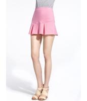 ガーベラレディース ストリートファッション カジュアル 通気性 ぺプラム裾 Aライン ミニスカート mb11094-1