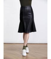 ガーベラレディース 欧米風 エレガント 着やせ PUレザー ハイウエスト スカート mb11128-1