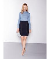 ガーベラレディース 欧米風 カジュアル 着やせ デニム タイト ファッション スカート mb11136-1