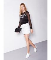 ガーベラレディース 欧米風 カジュアル 着やせ ホワイト デニム ミニスカート mb11145-1