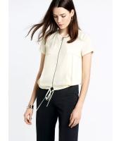 ガーベラレディース エレガント ファッション 裾 紐調節 半袖 ファスナー 涼しい カーディガン mb11172-2