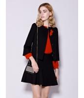 ガーベラレディース ファッション スタンドカラー 七分袖 ワイド袖 ショート丈 ジャケット mb11202-2