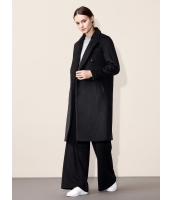 ガーベラレディース 欧米風 シンプル ファッション 長袖 ウール ロング丈 フリースコート mb11280-1