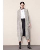 ガーベラレディース ファッション シンプル コーデアイテム ゆったり ロング丈 カーディガン mb11296-3