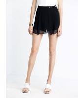 ガーベラレディース 欧米風 ファッション 内: ショートパンツ ホットパンツ 外: スカート 重ね着風 キュロットスカート mb11435-1