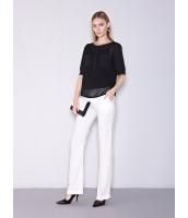 ガーベラレディース ファッション OL風 コーデアイテム ロングパンツ ベルボトム mb11505-2