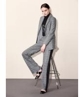 ガーベラレディース エレガント ファッション 格子 ウール ワイドパンツ mb11536-1